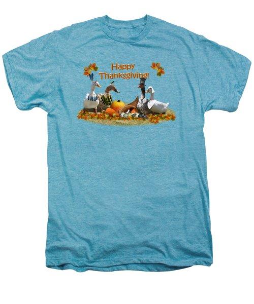 Thanksgiving Ducks Men's Premium T-Shirt by Gravityx9 Designs