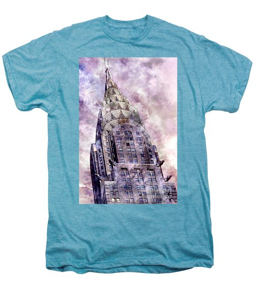 The Chrysler Building Men's Premium T-Shirt by Jon Neidert