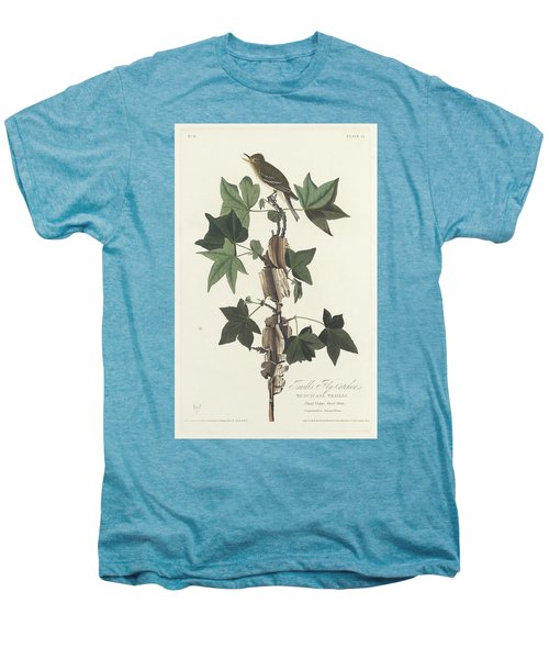 Traill's Flycatcher Men's Premium T-Shirt by John James Audubon