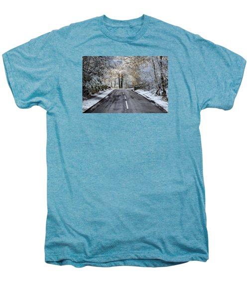 Trossachs Scenery In Scotland Men's Premium T-Shirt