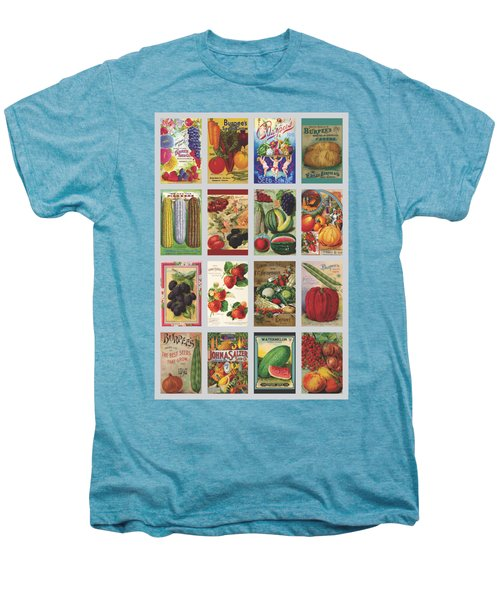 Vintage Farm Seed Packs Men's Premium T-Shirt by Debbie Karnes
