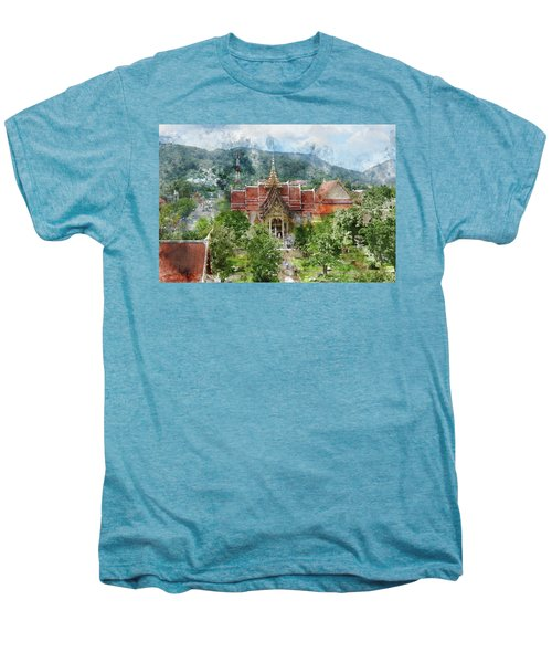 Wat Chalong In Phuket Thailand Men's Premium T-Shirt