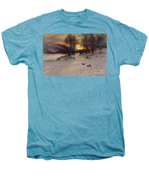 When The West With Evening Glows Men's Premium T-Shirt by Joseph Farquharson