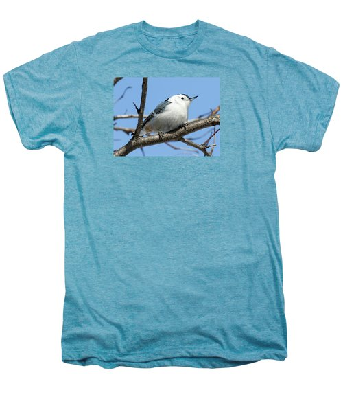 White-breasted Nuthatch Men's Premium T-Shirt by Ricky L Jones