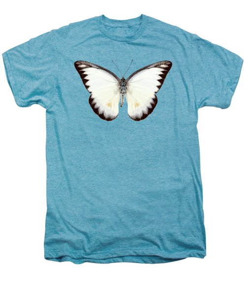 White Butterfly Species Appias Lyncida Men's Premium T-Shirt