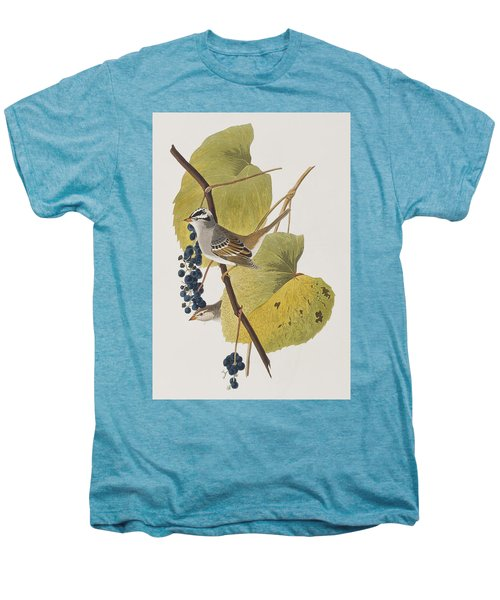White-crowned Sparrow Men's Premium T-Shirt by John James Audubon