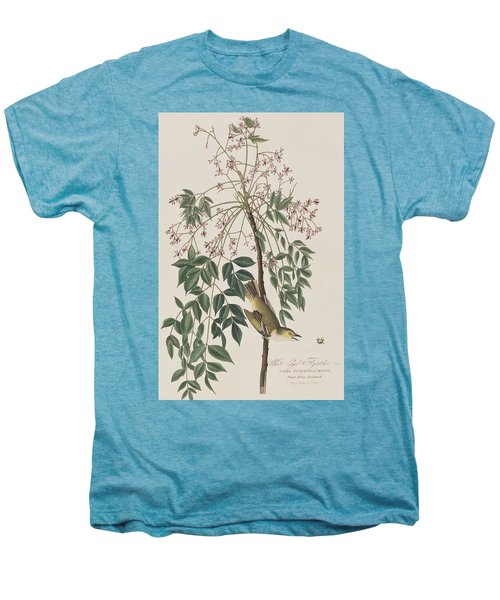 White-eyed Flycatcher Men's Premium T-Shirt by John James Audubon