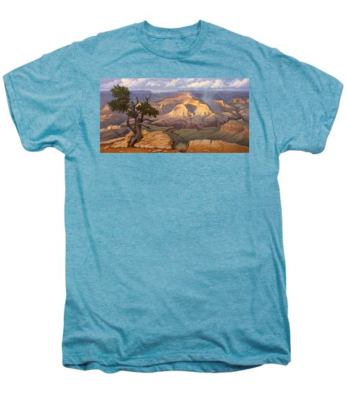Zoroaster Temple From Yaki Point Men's Premium T-Shirt by Paul Krapf