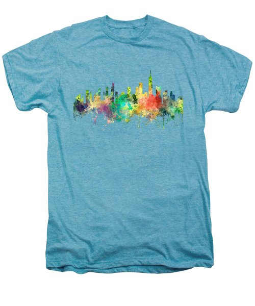 Chicago Illinois Skyline Men's Premium T-Shirt by Marlene Watson