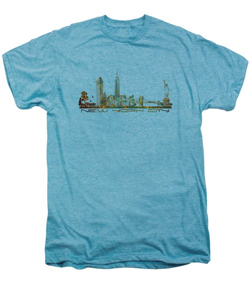 New York City Skyline Men's Premium T-Shirt by Justyna JBJart