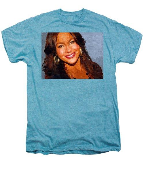 Sofia Vergara Art Print Men's Premium T-Shirt
