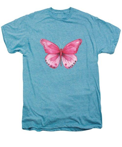 107 Pink Genus Butterfly Men's Premium T-Shirt