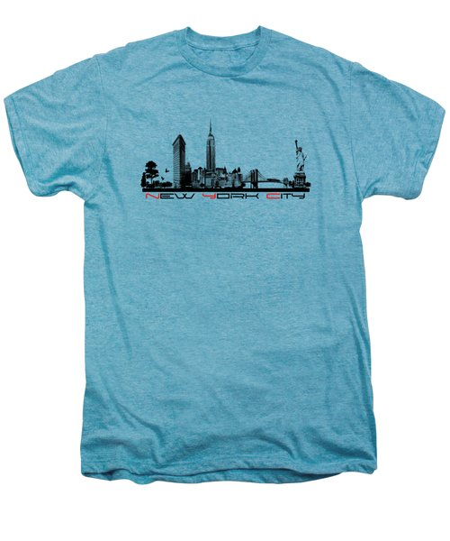 New York City Skyline  Men's Premium T-Shirt