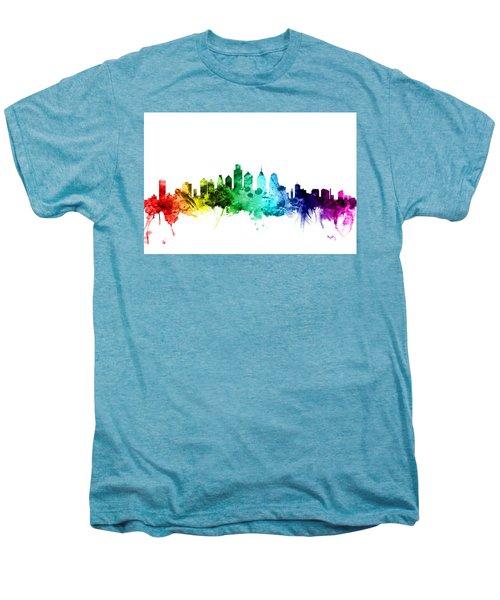 Philadelphia Pennsylvania Skyline Men's Premium T-Shirt by Michael Tompsett
