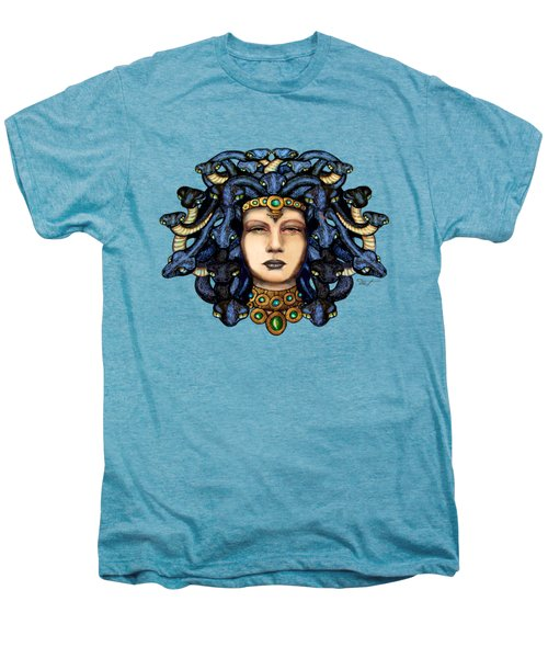 16x20 Medusa 2 Blu Gold Men's Premium T-Shirt by Dia T