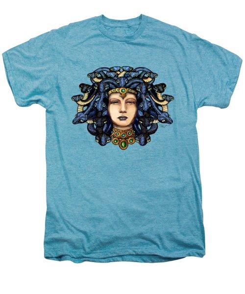 16x20 Medusa 2 Blu Gold Men's Premium T-Shirt