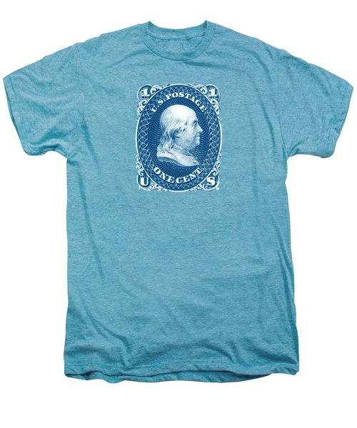 1861 Benjamin Franklin Stamp Men's Premium T-Shirt