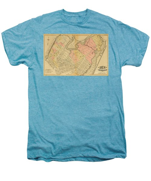 1879 Inwood Map  Men's Premium T-Shirt by Cole Thompson