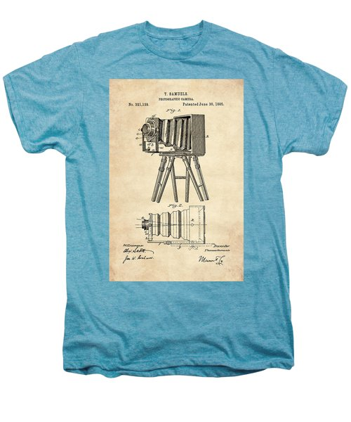 1885 Camera Us Patent Invention Drawing - Vintage Tan Men's Premium T-Shirt