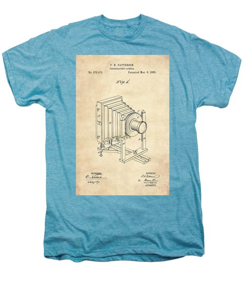 1888 Camera Us Patent Invention Drawing - Vintage Tan Men's Premium T-Shirt