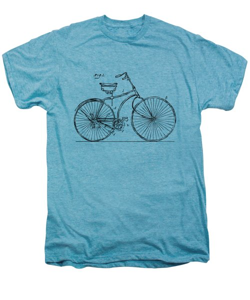 1890 Bicycle Patent Minimal - Vintage Men's Premium T-Shirt