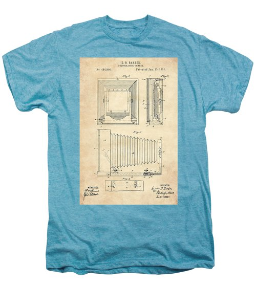 1891 Camera Us Patent Invention Drawing - Vintage Tan Men's Premium T-Shirt