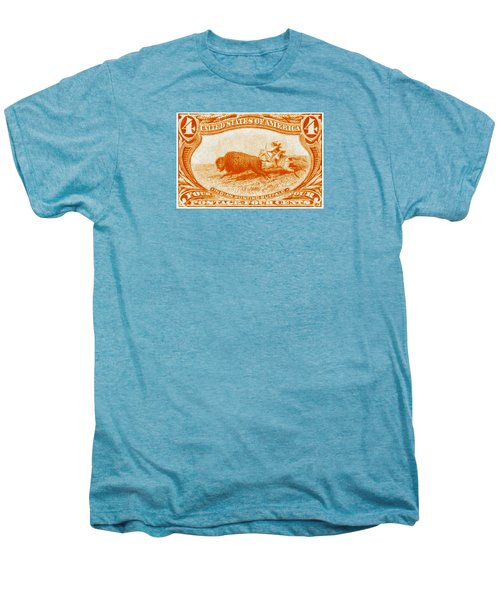 1898 Indian Hunting Buffalo Men's Premium T-Shirt by Historic Image