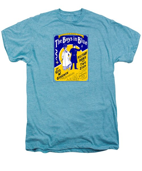 1901 The Boys In Blue, The Boston Police Men's Premium T-Shirt by Historic Image