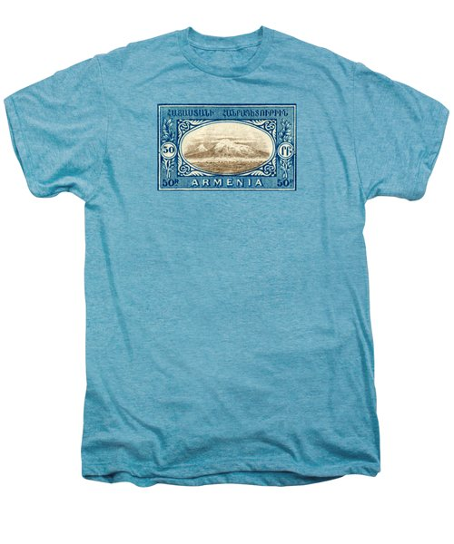 1920 Armenian Mount Ararat Stamp Men's Premium T-Shirt by Historic Image