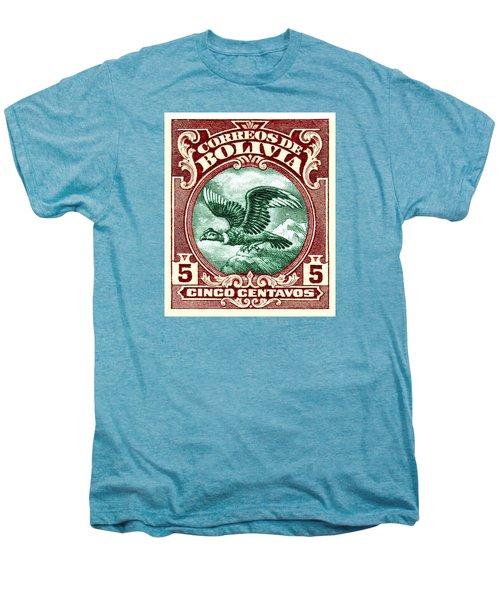 1928 Bolivia Andean Condor Postage Stamp Men's Premium T-Shirt