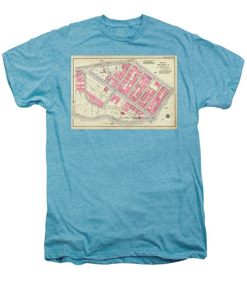 1930 Inwood Map  Men's Premium T-Shirt by Cole Thompson