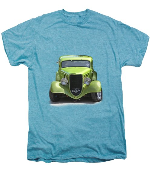 1934 Ford Street Hot Rod On A Transparent Background Men's Premium T-Shirt