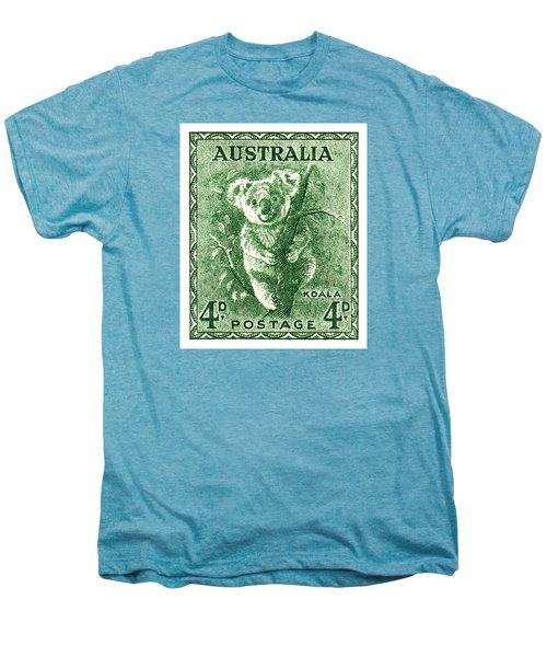 1940 Australia Koala Postage Stamp Men's Premium T-Shirt