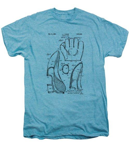 1941 Baseball Glove Patent - Vintage Men's Premium T-Shirt by Nikki Marie Smith