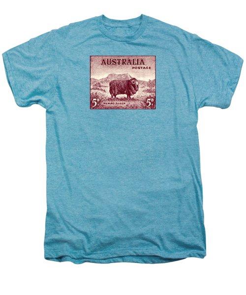 1946 Australian Merino Sheep Stamp Men's Premium T-Shirt by Historic Image