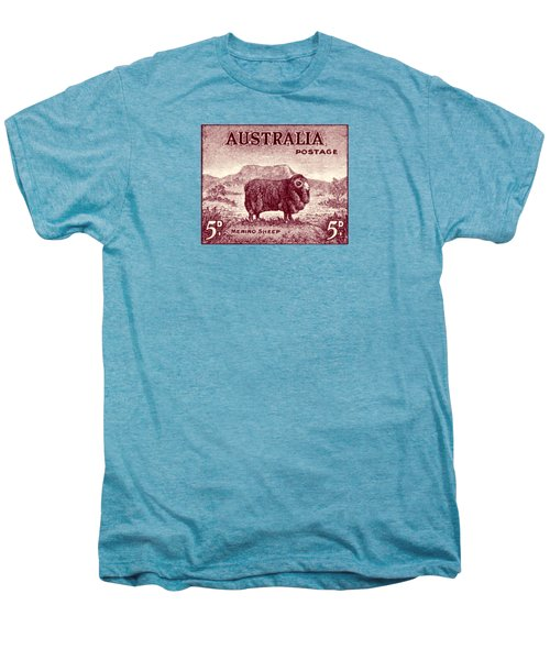 1946 Australian Merino Sheep Stamp Men's Premium T-Shirt