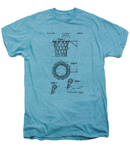 1951 Basketball Net Patent Artwork - Vintage Men's Premium T-Shirt by Nikki Marie Smith