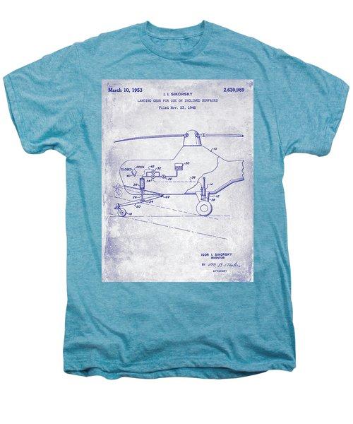 1953 Helicopter Patent Blueprint Men's Premium T-Shirt