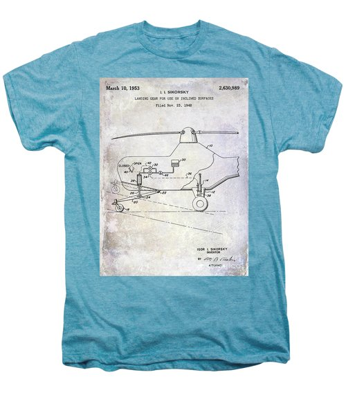 1953 Helicopter Patent Men's Premium T-Shirt by Jon Neidert