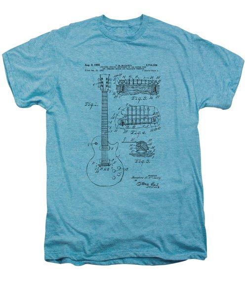 1955 Mccarty Gibson Les Paul Guitar Patent Artwork Vintage Men's Premium T-Shirt by Nikki Marie Smith