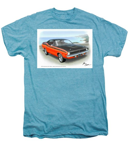 1970 Barracuda Aar  Cuda Classic Muscle Car Men's Premium T-Shirt by John Samsen