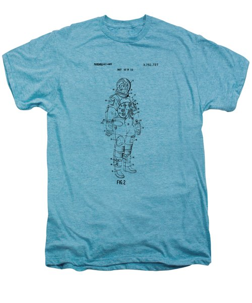 1973 Astronaut Space Suit Patent Artwork - Vintage Men's Premium T-Shirt by Nikki Marie Smith