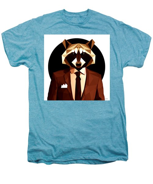 Abstract Geometric Raccoon Men's Premium T-Shirt by Gallini Design