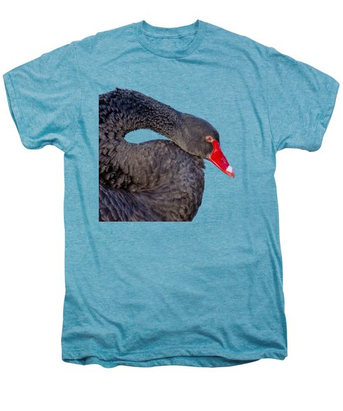 Black Swan Men's Premium T-Shirt by Scott Carruthers