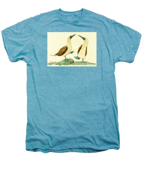 Blue Footed Boobies Men's Premium T-Shirt by Juan  Bosco