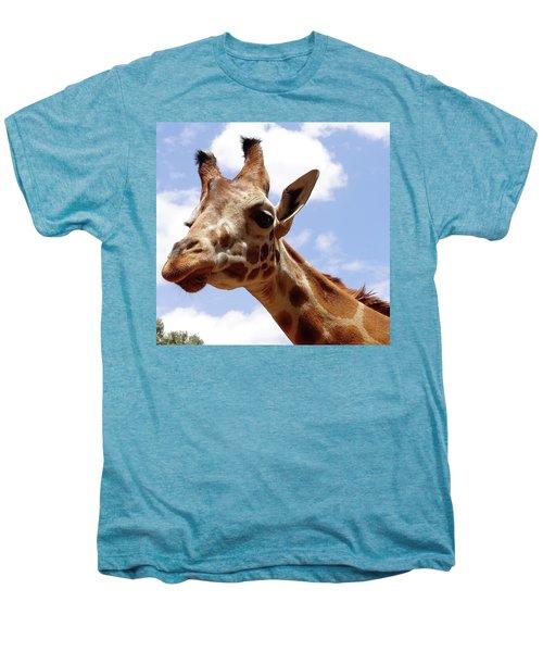 Giraffe Getting Personal 6 Men's Premium T-Shirt
