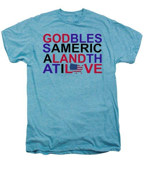 God Bless America Men's Premium T-Shirt by Mal Bray
