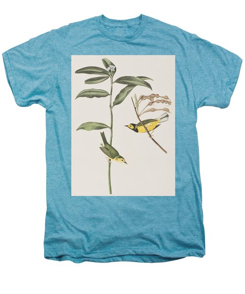 Hooded Warbler  Men's Premium T-Shirt by John James Audubon
