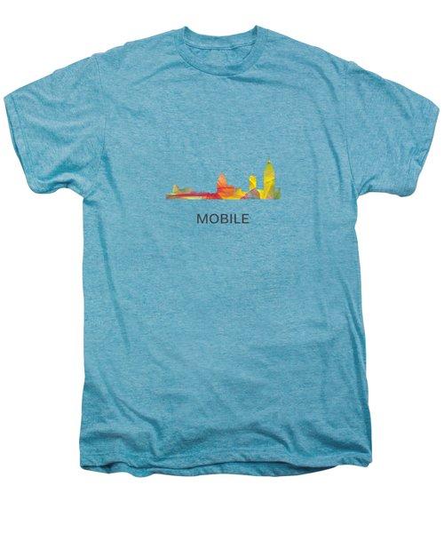 Mobile Alabama Skyline Men's Premium T-Shirt