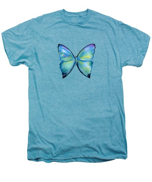 2 Morpho Aega Butterfly Men's Premium T-Shirt by Amy Kirkpatrick